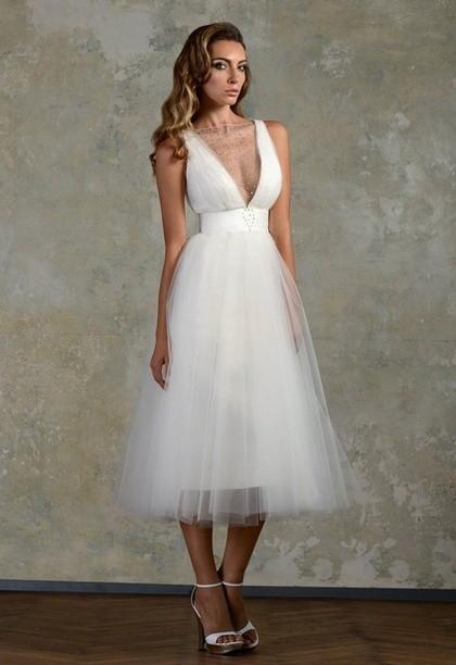 Свадебные платья миди 2014 от Bien Savvy