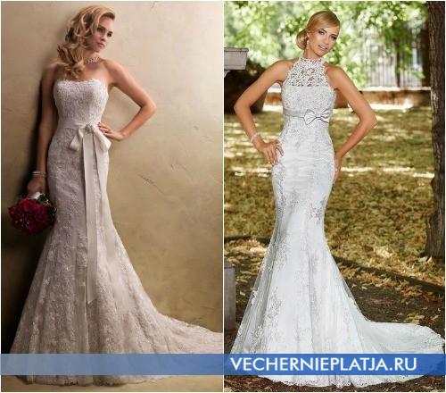 Свадебное платье для высоких и стройных невест фасон русалка