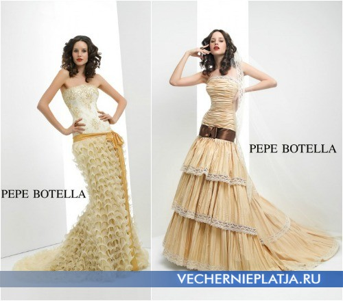 Платье русалка с пышной юбкой для худых девушек