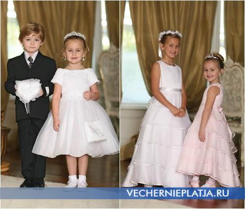 Детские платья на свадьбу стильные