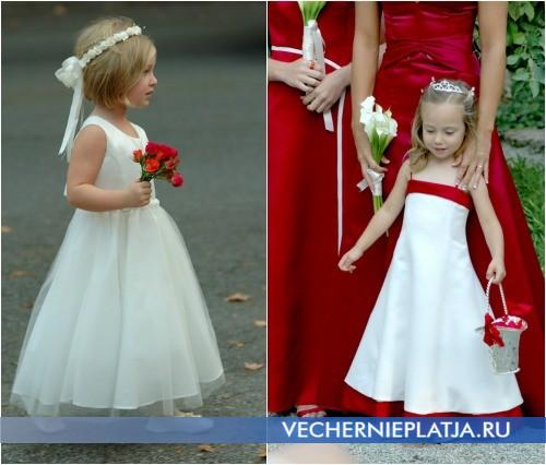Маленькие девочки в свадебном платье