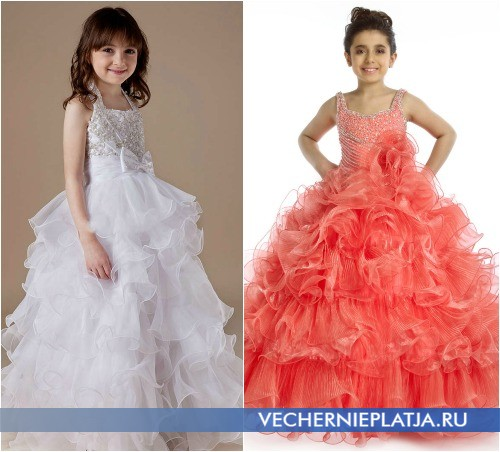 Белые пышные платья детские