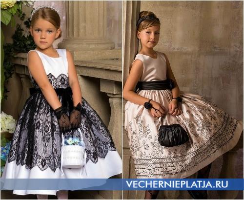Новогодние платья для детей в стиле ретро