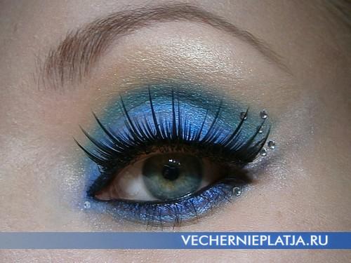 Обворожительный макияж глаз на Новый год 2014 фото