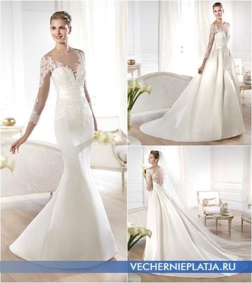 Платья для венчания со съемным шлейфом