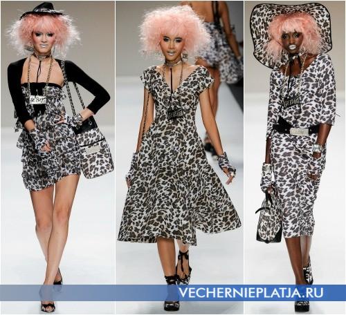 Платья с леопардовым принтом 2014 от Betsey Johnson