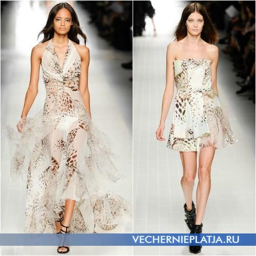 Летние платья с животным принтом 2014 от Blumarine