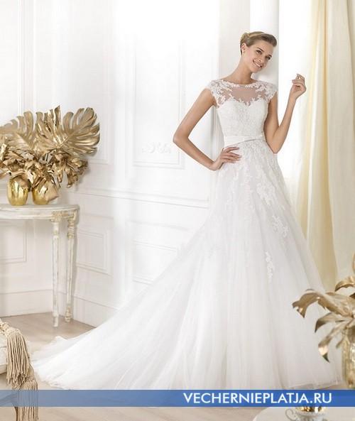 Свадебное платье с прозрачным верхом фото