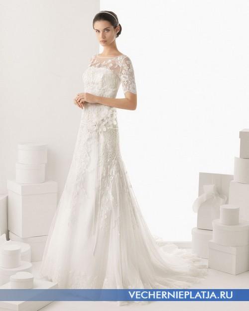 Платье с кружевным верхом фото