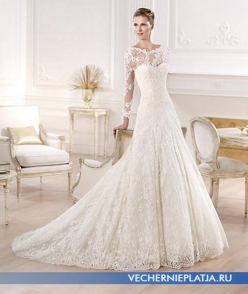 Свадебное платье с ажурным верхом фото