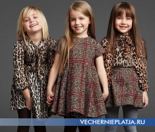Стильные зимние платья для девочек фото