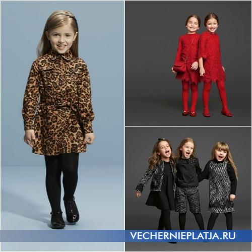 Модные теплые платья для девочек фото