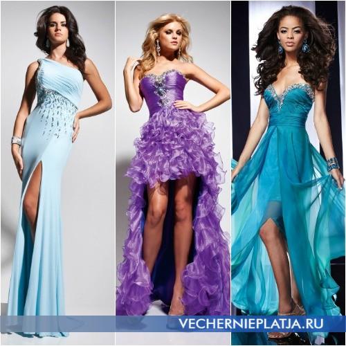 Асимметричные платья для выпускного вечера 2014 фото