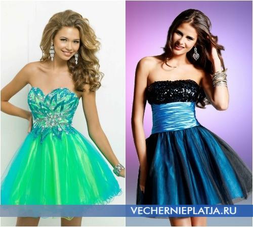Самые красивые короткие платья на выпускной 2014 фото