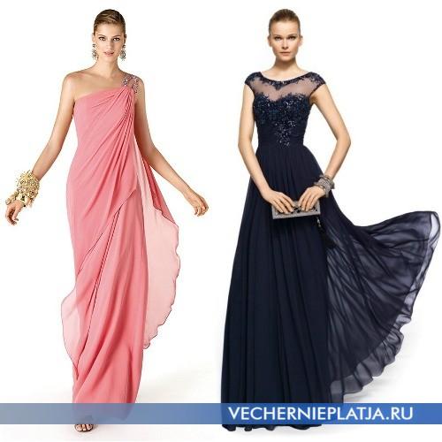 Длинные многослойные платья для выпускного 2014 фото
