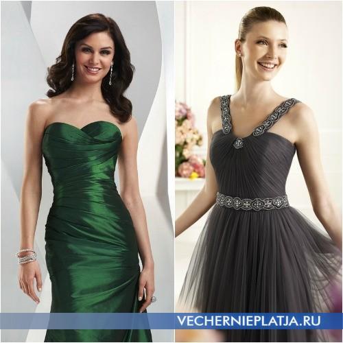 Модные ткани для выпускных платьев 2014 фото
