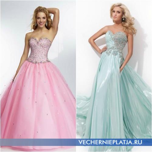 Платья на выпускной 2014 пышные длинные