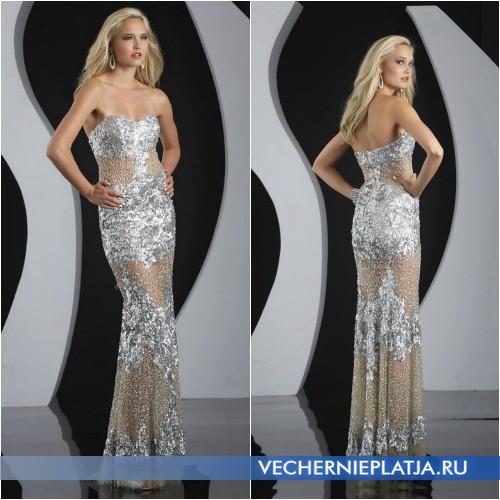 Облегающие длинные платья 2014 на выпускной фото