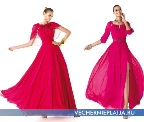 Закрытые модели длинных выпускных платьев 2014 фото