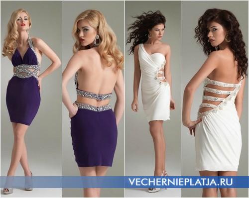 Платья с оригинальными вырезами на выпускной 2014