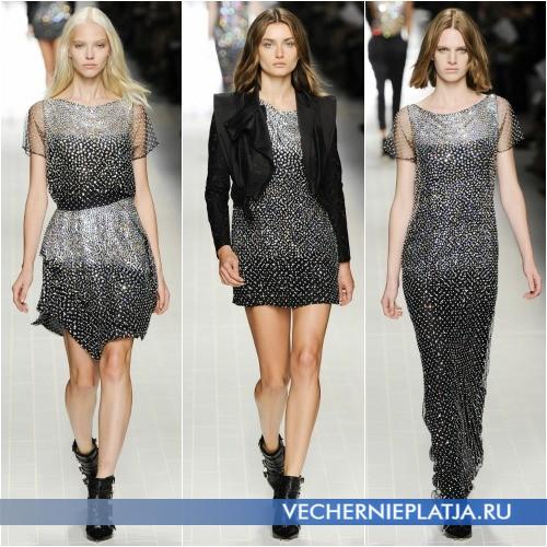 Модное блестящее платье с паетками Весна-Лето 2014