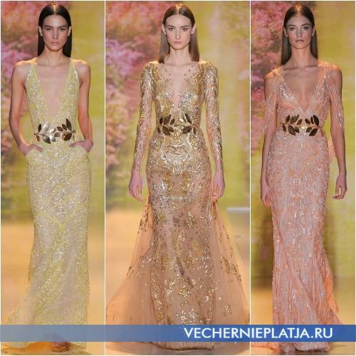 Длинные платья 2014 с паетками