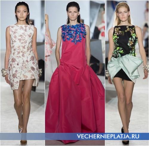 Модные аппликации из стекляруса на платье, Giambattista Valli