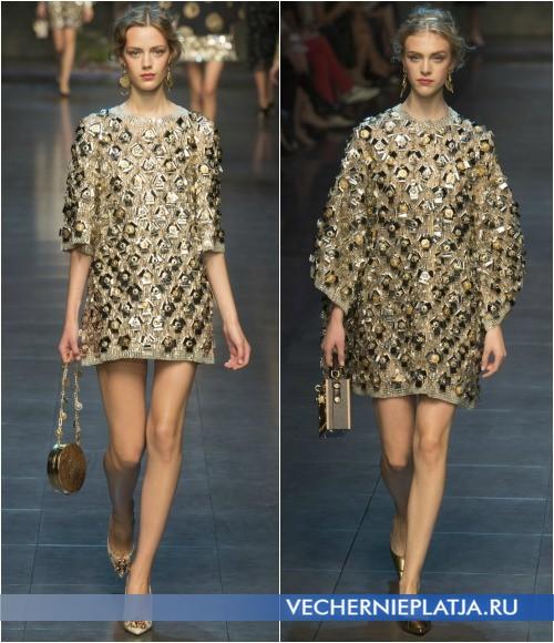 Короткие платья с аппликациями от Dolce Gabbana