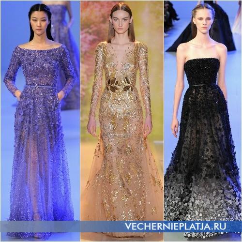 Роскошные аппликации на вечерних платьях