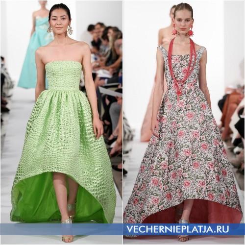Модное платье с асимметричным низом 2014 года