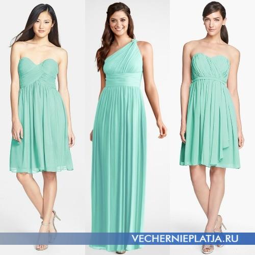Красивые платья мятного оттенка фото