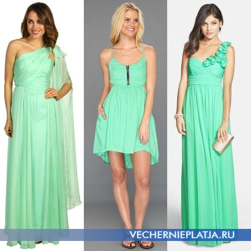 Платья цвета аквамарин фото