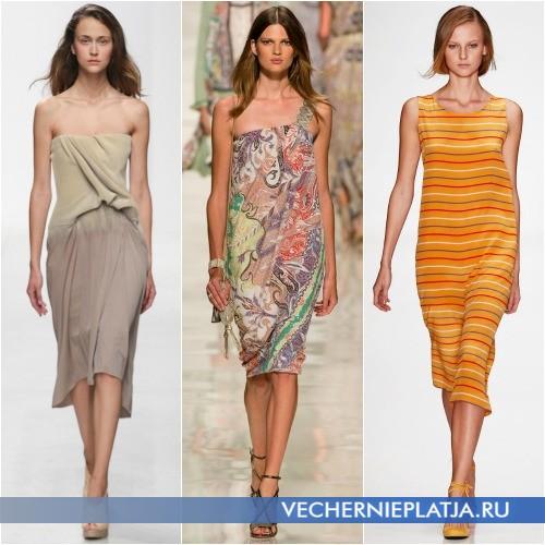 Модели летних платьев 2014 длины миди фото