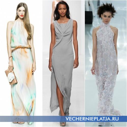 Модные летние платья в пол 2014