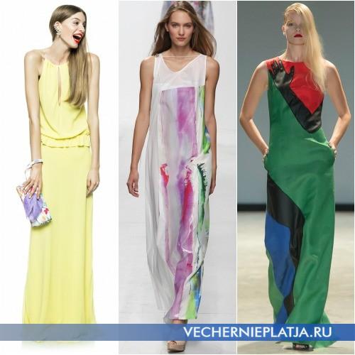 Модные цвета платьев 2014 лето