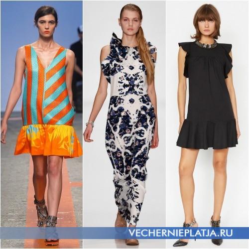 Модные летние платья 2014 с объемными сборками