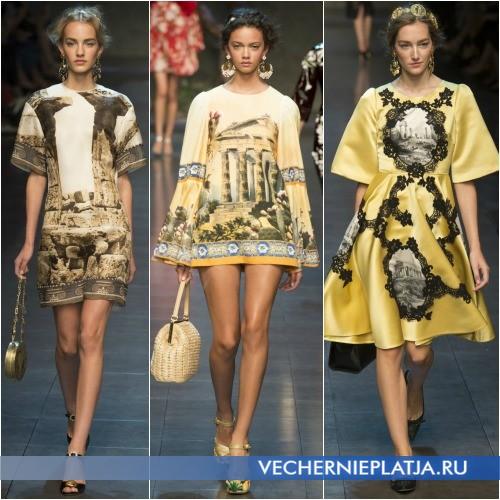 Женские летние платья 2014 с историческими картинками