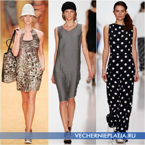 Актуальные принты летних платьев 2014 года