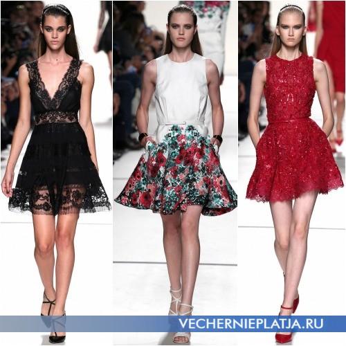Платье-трапеция 2014 с ремешком на талии