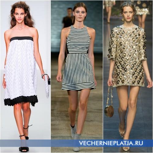 Модные платья в форме трапеции 2014