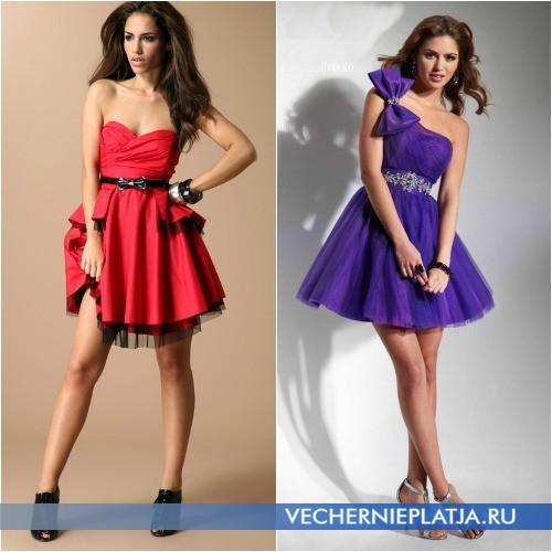 Короткие пышные платья для высоких девушек фото