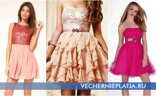 Короткие платья в стиле бэби долл с завышенной талией