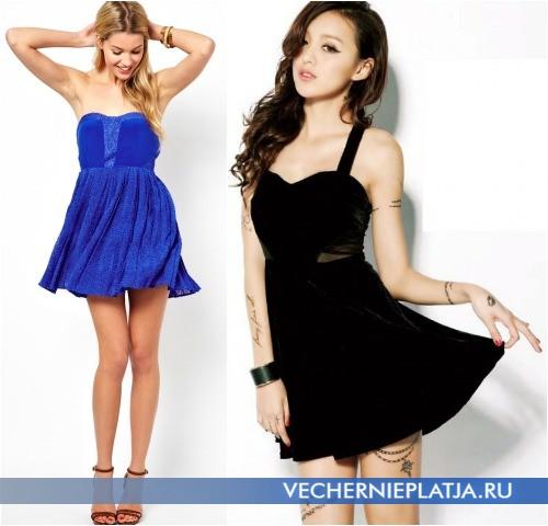 Короткие летние платья с завышенной талией