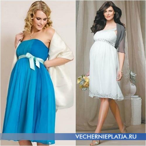 Платья с завышенной талией для беременных фото