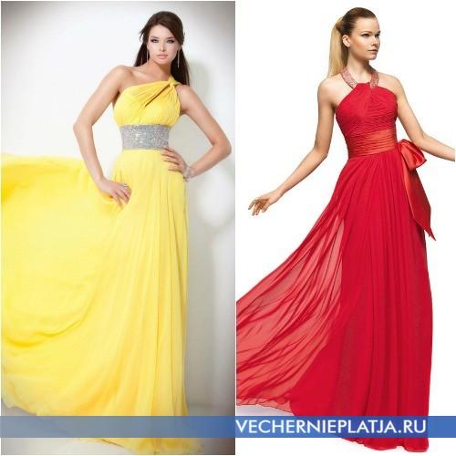 Длинные вечерние платья с красивым поясом выше талии фото