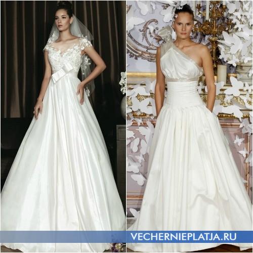 Свадебные платья с завышенной талией фото