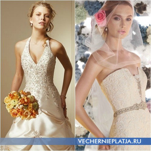 Аксессуары под свадебное платье цвета шампанского
