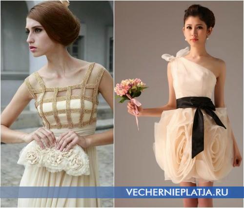Выбор аксессуаров для свадебного платья шампань
