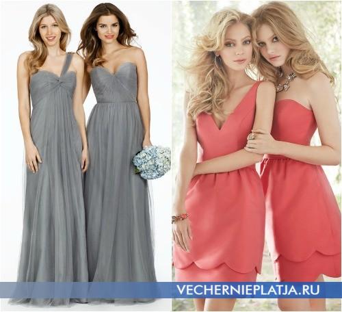 Как подобрать платья в одной цветовой гамме для свидетельниц