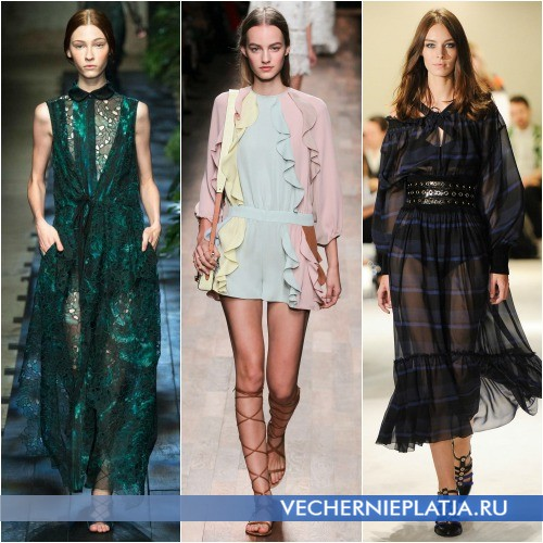 Весенне-летние романтические платья 2015 года